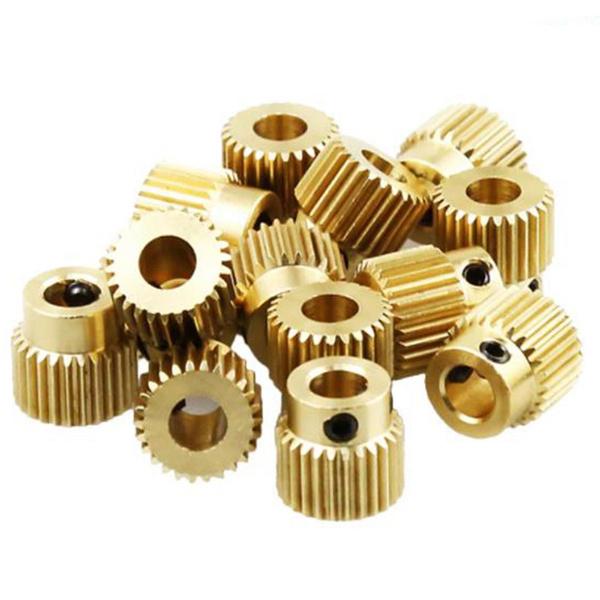 Brass, Printers, mk8extrusiongear, extrusiongear26tooth