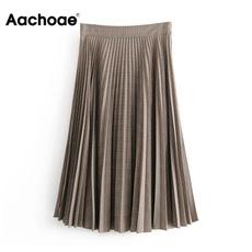 long skirt, plaid, Waist, Midi