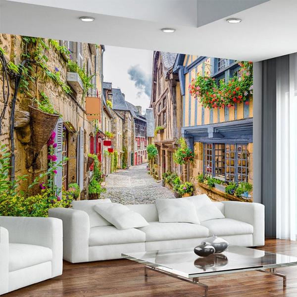 living, Cafe, parede, TV