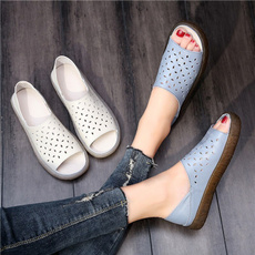 Summer, Sandals, Flats, Breathable