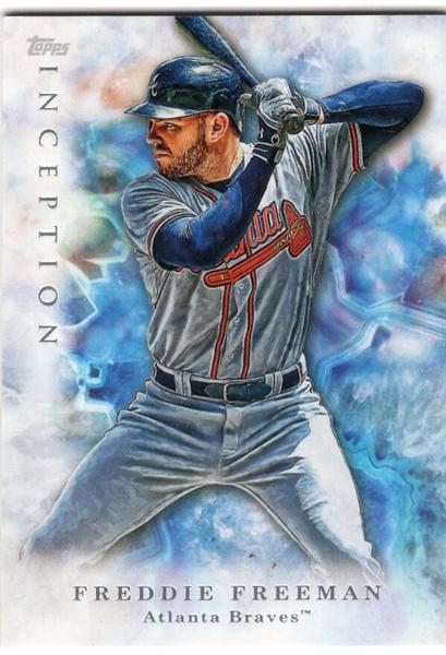inception, 2017baseballcard, freddiefreeman, Atlanta Braves
