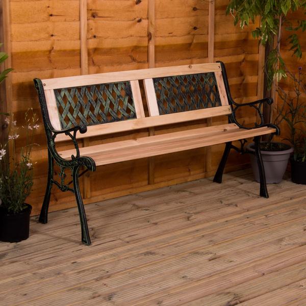 Outdoor, Garden, Wooden, 3seaterbench