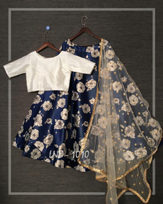Bollywood, Satin, lehengacholi, woman dress