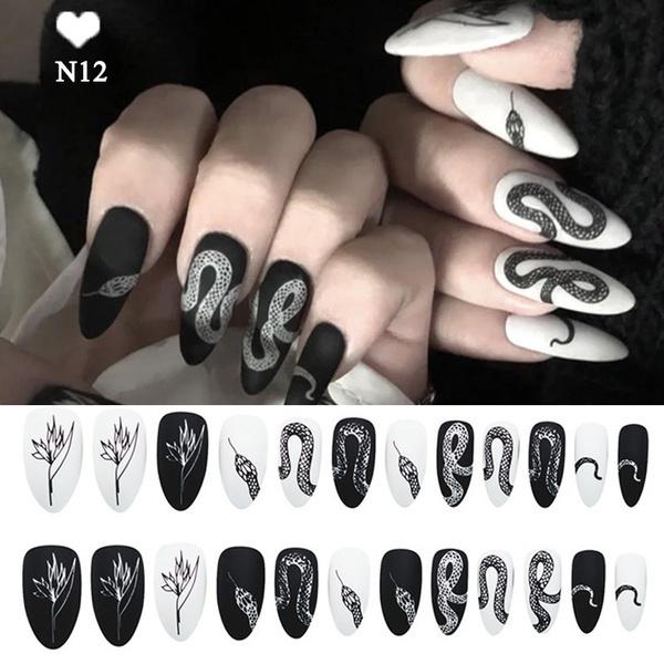 fakenailtip, acrylic nails, fullcovernailtip, flamenail