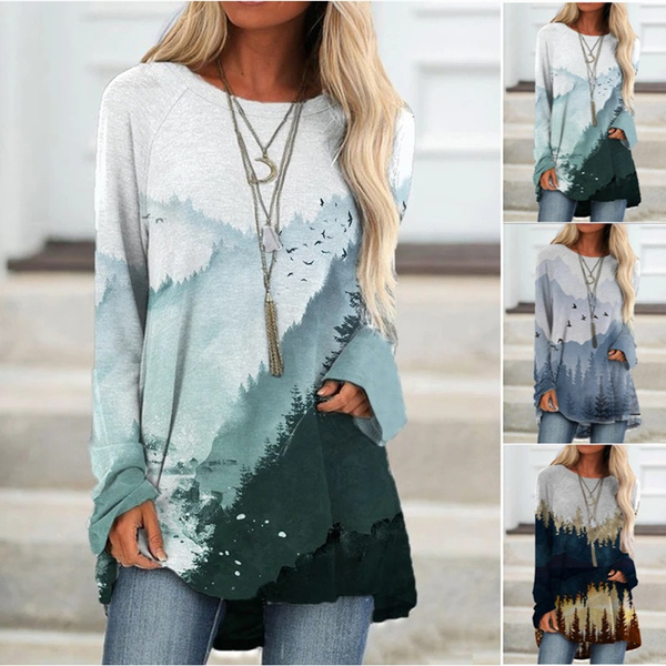 Fashion, Long Sleeve, Spring, printed shirts