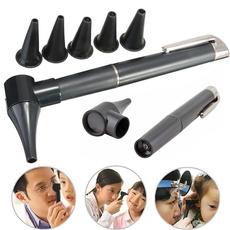 Flashlight, otoscope, earringstool, led