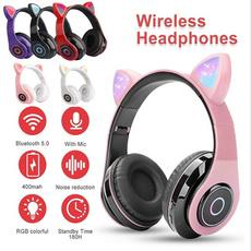 Headset, Earphone, cute, lights