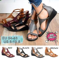Summer, Moda, summer shoes, PU Leather