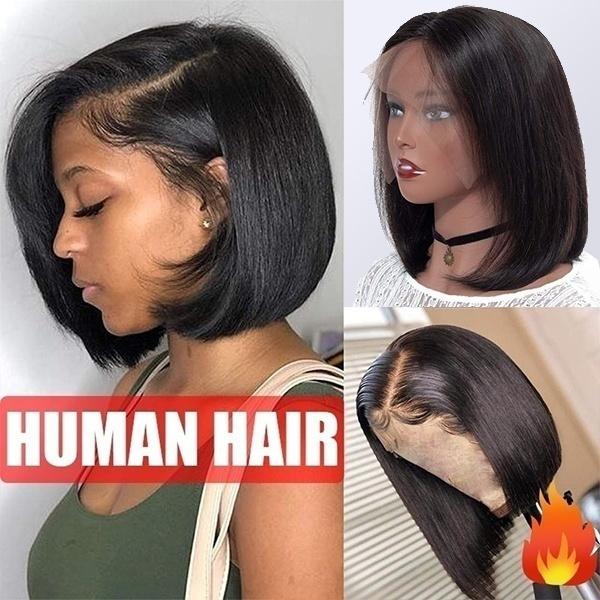 wig, Fashion, blackshortwig, straighhumanhairwig