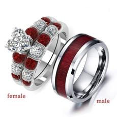 Steel, DIAMOND, wedding ring, rings for women