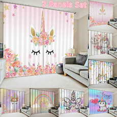3dcurtain, unicorncurtain, cortinasparasala, rainbow