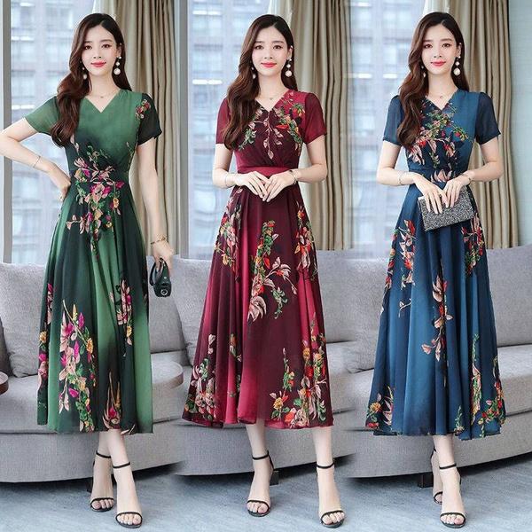 Summer, Korea fashion, Fashion, long dress
