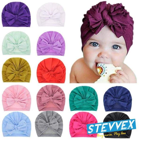 babygirlsturban, babygirlscap, Cotton, Winter