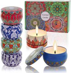 amber, Home & Garden, Candle, Orange