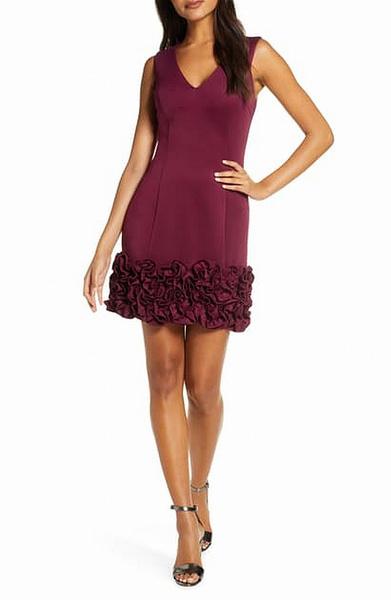 Fashion, ruffle, purple, Dress
