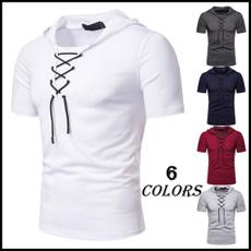 Summer, Fashion, Shirt, menshoodedtshirt