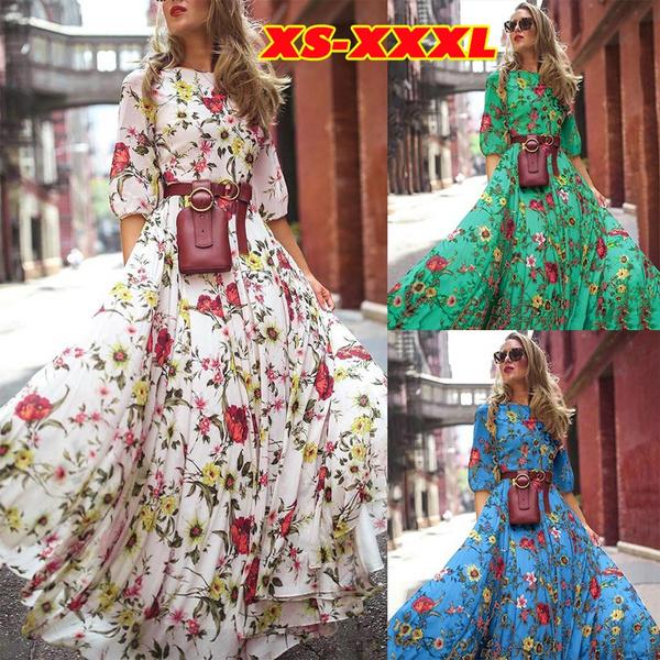 Swing dress, Flowers, Sleeve, Summer