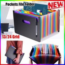 Box, rainbow, studystationery, officefolder
