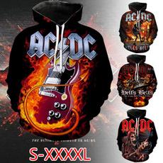 Heavy, 3D hoodies, acdc, Hoodies