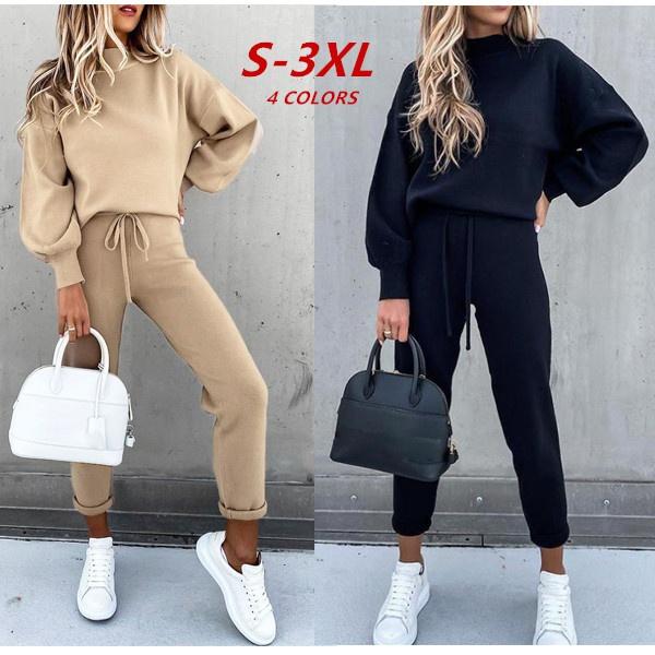 2pieceset, Winter, hoodies for women, Long Sleeve