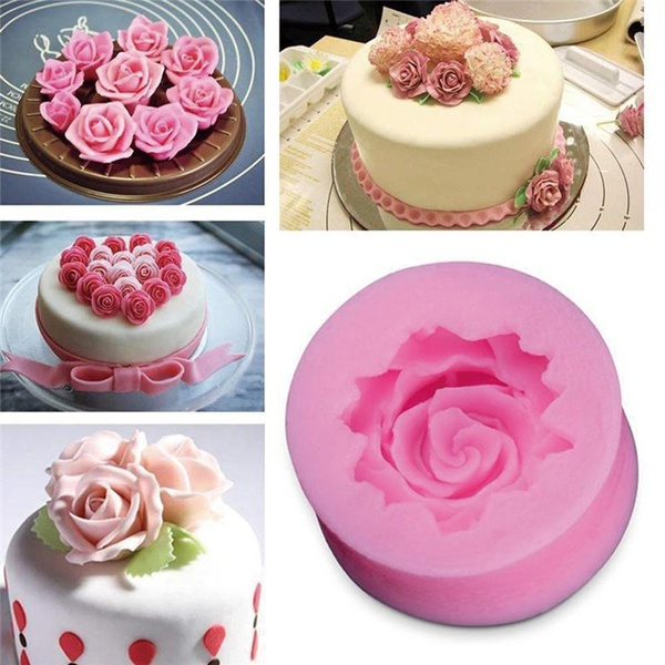 pink, Flowers, Baking, Silicone
