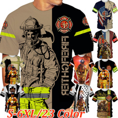 Plus Size, Cosplay, Shirt, firemencostume