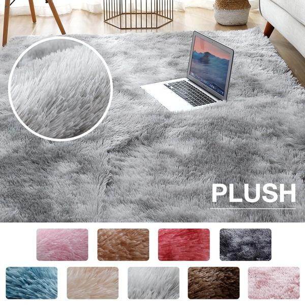 Gray, fluffyrug, bedroomcarpet, Mats