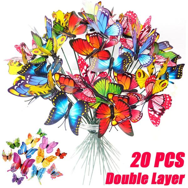 butterfly, Garden, Colorful, butterflystake
