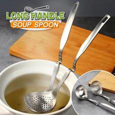 longhandlespoon, Steel, colanderspoon, soupspoon
