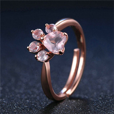 cute, wedding ring, Copper, Rhinestone