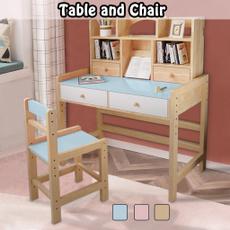 bedroom, mesaecadeirainfantilmadeira, adjustablekidsdeskchair, Wooden