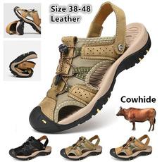 non-slip, Summer, Plus Size, leather shoes