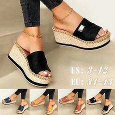 wedge, Flip Flops, Sandalias, Women Sandals