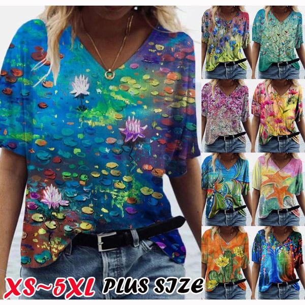 blouse, Summer, Plus Size, newwomensfashion