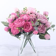 Head, Bouquet, brideholdingflower, Indoor