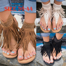 bohemia, Summer, Flip Flops, Plus Size