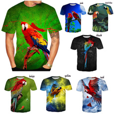 Summer, Fashion, Sleeve, Parrot
