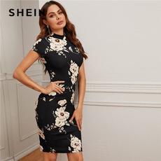 Shorts, Floral print, Sleeve, Midi