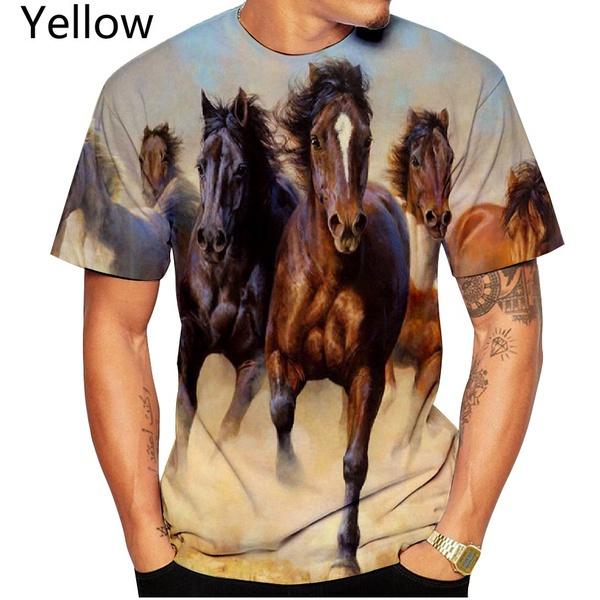 Funny, horse, Fashion, 3dmentshirt