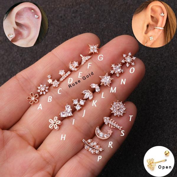 tragu, Flowers, Star, Jewelry