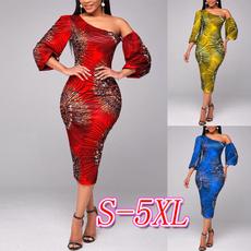 one shoulder dress, Sleeve, highwaistdres, plus size dress