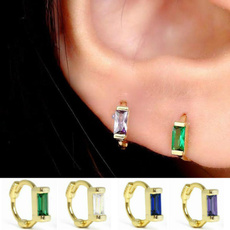 cartilage earrings, Hoop Earring, Jewelry, emeraldearring