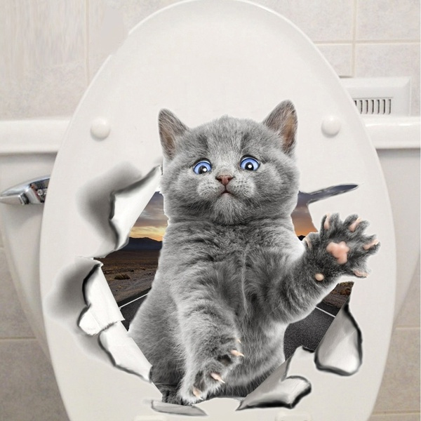cute, kidroom, catwallsticker, toiletsticker
