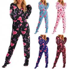 Plus Size, Long Sleeve, pajamassuit, Women's Fashion