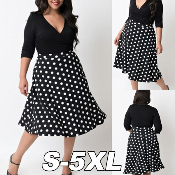Deep V-Neck, slim dress, fashion women, Plus Size