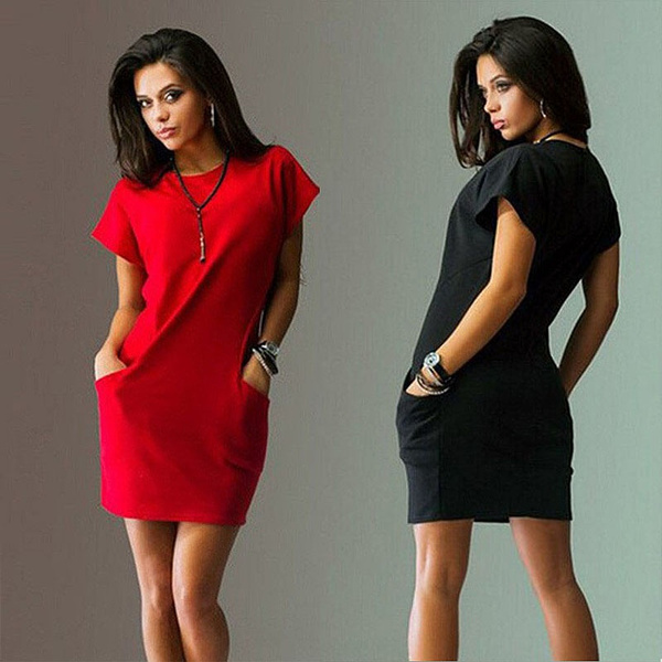 slim dress, slim, womenshortsleevedre, Shirt