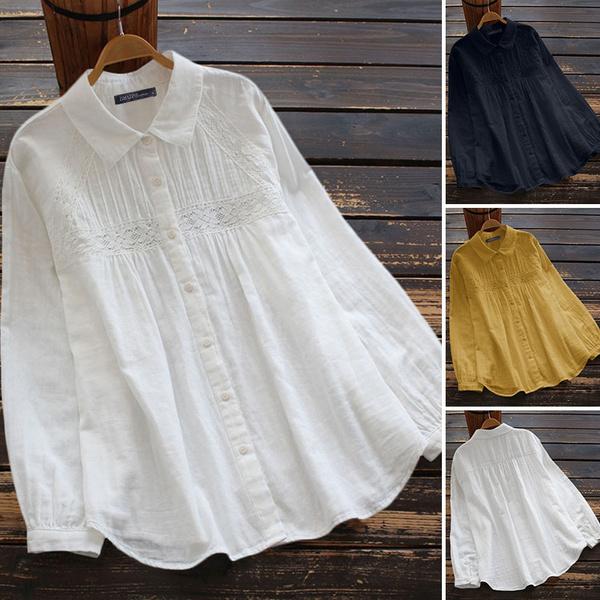 blouse, Cotton, Plus Size, Floral