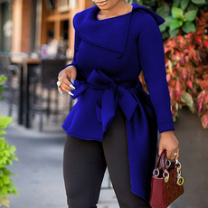 Fashion, Office, Long Sleeve, navy blue dress