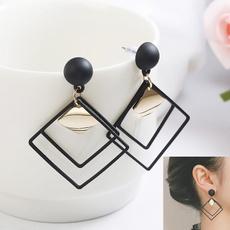 earringforwomen, rhombusearring, Hoop Earring, Jewelry