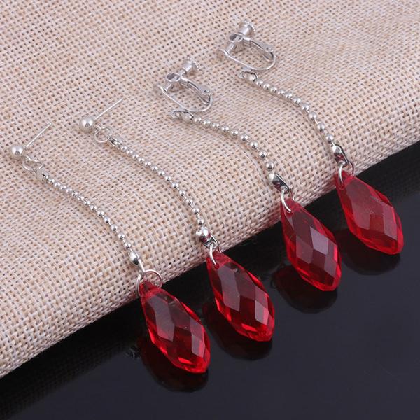 crystal pendant, Hoop Earring, Dangle Earring, Jewelry